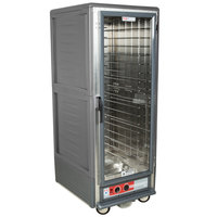 Metro C539-HLFC-L C5 3 Series Insulated Low Wattage Full Size Hot Holding Cabinet with Lip Load Aluminum Slides and Clear Door - Gray