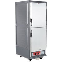 Metro C539-HLDS-U C5 3 Series Insulated Low Wattage Full Size Hot Holding Cabinet with Universal Wire Slides and Solid Dutch Doors - Gray