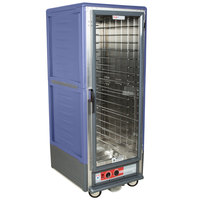 Metro C539-HLFC-4 C5 3 Series Insulated Low Wattage Full Size Hot Holding Cabinet with Fixed Wire Slides and Clear Door - Blue