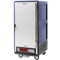 Metro C537-HLFS-4-BU C5 3 Series Insulated Low Wattage 3/4 Size Heated Holding Cabinet with Fixed Wire Slides and Solid Door - Blue