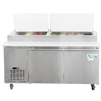 Avantco PICL2 72 inch Two Door Refrigerated Pizza Prep Table