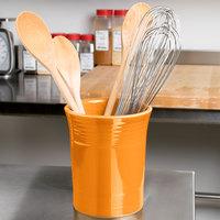 Homer Laughlin 447325 Fiesta Tangerine 6 5/8 inch Utensil Crock - 4/Case