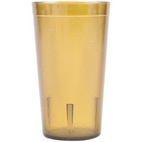 Carlisle 521213 12 oz. Amber Plastic Tumblers - 72/Case