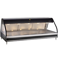 Alto-Shaam ED2-72/P BK Black Heated Display Case with Curved Glass - Self Service 72 inch