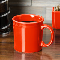 Homer Laughlin 570338 Fiesta Poppy 12 oz. China Java Mug - 12/Case