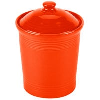 Homer Laughlin 572338 Fiesta Poppy Medium 2 Qt. Canister with Cover - 2 / Case