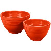Homer Laughlin 867338 Fiesta Poppy 2-Piece Prep Baking Bowl Set - 2/Case