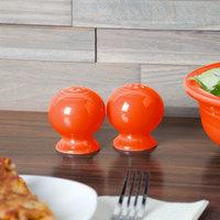 Homer Laughlin 497338 Fiesta Poppy China Salt and Pepper Shaker Set - 4/Case