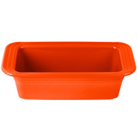 Homer Laughlin 813338 Fiesta Poppy 5 3/4 inch x 10 3/4 inch x 3 inch Loaf Pan - 3 / Case