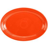 Homer Laughlin 456338 Fiesta Poppy 9 5/8 inch Small Oval Platter - 12/Case
