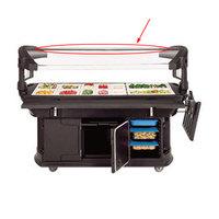 Carlisle 775600 Black 6' Shield Support Rod for Maximizer Food Bar