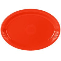 Fiesta Tableware from Steelite International HL968338 Poppy 19 1/4 inch x 13 1/2 inch Oval Extra Large China Serving Platter - 2/Case
