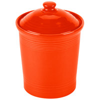Homer Laughlin 571338 Fiesta Poppy Small 1 Qt. Canister with Cover - 2 / Case