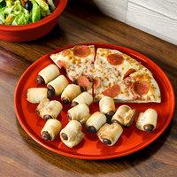 Homer Laughlin 575338 Fiesta Poppy 12 inch China Pizza / Baking Tray - 4/Case