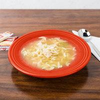 Homer Laughlin 451338 Fiesta Poppy 9 inch 13.25 oz. Rim Soup Bowl - 12/Case