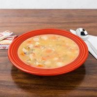 Homer Laughlin 451338 Fiesta Poppy 13.25 oz. China Rim Soup Bowl - 12/Case