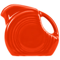 Homer Laughlin 475338 Fiesta Poppy 5 oz. Mini Disc Creamer Pitcher - 4/Case