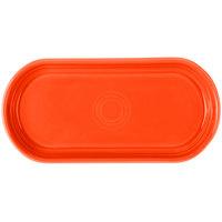 Homer Laughlin 412338 Fiesta Poppy 12 inch x 5 11/16 inch Bread Tray - 6/Case