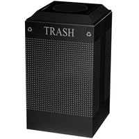 Rubbermaid FGDCR24TTBK Silhouettes Textured Black Designer Recycling Receptacle - Trash 29 Gallon