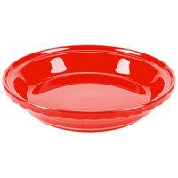 Homer Laughlin 487338 Fiesta Poppy 10 1/4 inch Deep Dish Pie Baker - 4/Case