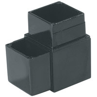 Carlisle 900403 Black 2 Prong Replacement Sneeze Guard Assembly Block - 2/Pack