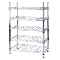 Regency 14 inch x 24 inch 5 Shelf Wire Wine Rack with 34 inch Posts