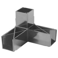 Carlisle 900331 Gray 3 Prong Replacement Sneeze Guard Assembly Block - 2/Pack