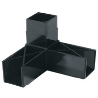 Carlisle 900303 Black 3 Prong Replacement Sneeze Guard Assembly Block   - 2/Pack