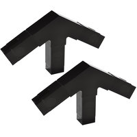 Carlisle 900503 Black 3 Prong Replacement Sneeze Guard Assembly Block - 2/Set