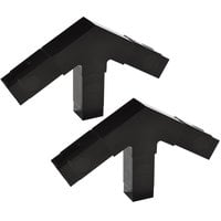 Carlisle 900503 Black 3 Prong Replacement Sneeze Guard Assembly Block - 1 inch 60 Degree - 2 / Set