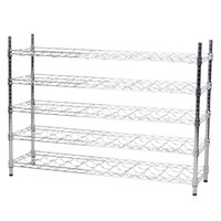 Regency 14 inch x 48 inch 5 Shelf Wire Wine Rack with 34 inch Posts - 55 Bottle Capacity