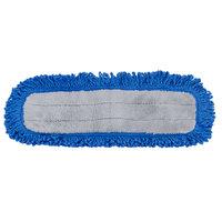 Carlisle 363311814 18 inch Blue Microfiber Dry Mop Pad