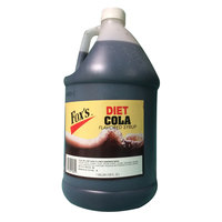 Fox's 1 Gallon Diet Cola Syrup   - 4/Case