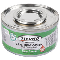 Sterno Products 10118 Safe Heat Green Chafing Fuel with Power Pad - 2 Hour - 72 / Case