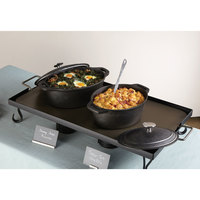 American Metalcraft CIPO3 10 1/2 inch x 8 Oval Cast Iron Casserole with Handles
