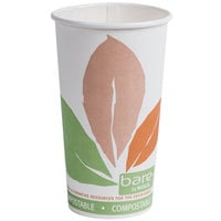 Dart Solo 420PLA-J7234 Bare Eco-Forward 20 oz. Paper Hot Cup - 600 / Case