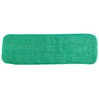 18 inch Green Microfiber Wet Velcro® Flat Mop Pad