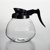 Bunn 42400.0101 64 oz. Glass Decanter with Black Handle