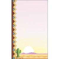 8 1/2 inch x 11 inch Menu Paper - Southwest Themed Cactus Design Left Insert - 100/Pack