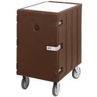 Cambro 1826LTCSP131 Camcart Dark Brown Mobile Cart for 18 inch x 26 inch Sheet Pans and Trays with Security Package