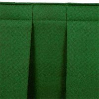 National Public Seating SB16-96 Green Box Stage Skirt for 16 inch Stage - 96 inch Long