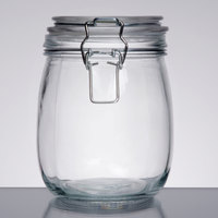 American Metalcraft HMJ5 26 oz. Glass Hinged Apothecary Jar