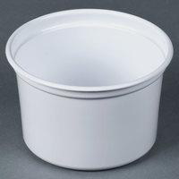 Dart Solo MicroGourmet 16NW-0007 16 oz. White Polypropylene Deli Container - 500 / Case