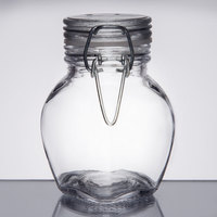 American Metalcraft HMMJ3 3.5 oz. Glass Miniature Hinged Apothecary Jar