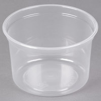 Dart Solo MicroGourmet MN16-0100 16 oz. Contact Clear Polypropylene Deli Container - 500/Case