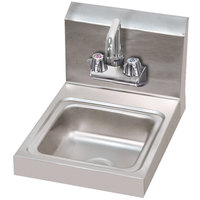 Advance Tabco 7-PS-23-EC 12 inch x 16 inch Economy Hand Sink with Splash Mount Faucet