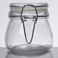 American Metalcraft HMMJ5 5 oz. Glass Miniature Hinged Apothecary Jar