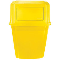 Rubbermaid 1829404 Slim Jim Yellow Wall-Mounted Trash Container 15 Gallon (1829404)