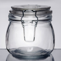 American Metalcraft HMJ4 16 oz. Glass Hinged Apothecary Jar