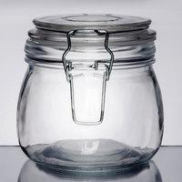 American Metalcraft HMJ4 16 oz. Glass Hinged Apothecary Jar